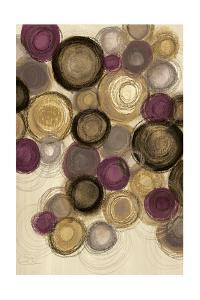 Purple Whimsy I Circles by Jeni Lee