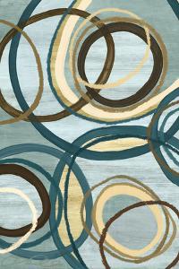 Tuesday Blue II Circles by Jeni Lee