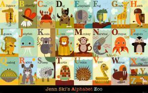 Alphabet Zoo by Jenn Ski