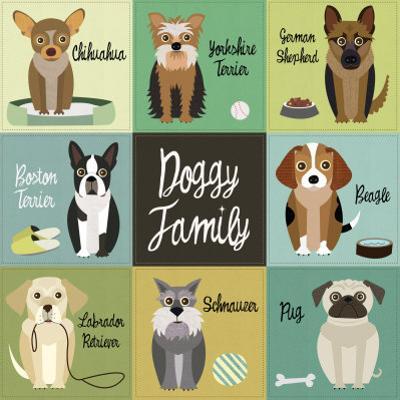 Doggy Family by Jenn Ski