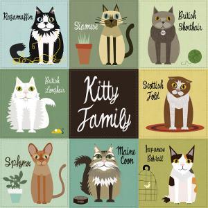 Kitty Family by Jenn Ski