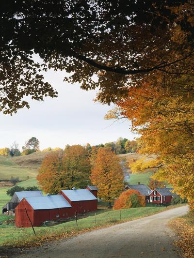 Jenne Farm in Autumn, Reading, Vermont, USA-Walter Bibikow-Photographic Print