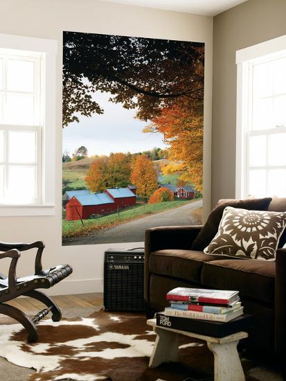 Jenne Farm in Autumn, Reading, Vermont, USA-Walter Bibikow-Wall Mural