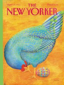 The New Yorker Cover - April 20, 1992 by Jenni Oliver