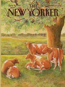 The New Yorker Cover - August 10, 1987 by Jenni Oliver