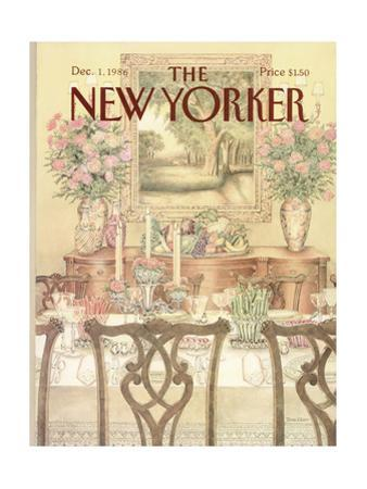 The New Yorker Cover - December 1, 1986 by Jenni Oliver