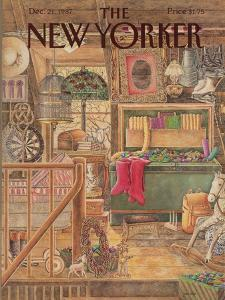 The New Yorker Cover - December 21, 1987 by Jenni Oliver