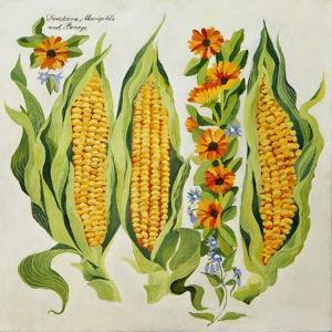 Corn and Marrow Flowers, 2014 by Jennifer Abbott