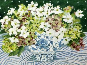 Cosmos and Hydrangeas in a Chinese Vase, 2013 by Jennifer Abbott