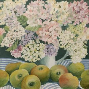 Hydrangeas and cooking apples by Jennifer Abbott