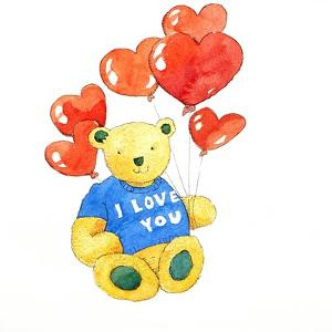 I love you bear - balloon, 2011 by Jennifer Abbott