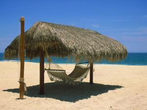 Cabo St. Lucas, Beach Palapa and Hammock by Jennifer Broadus