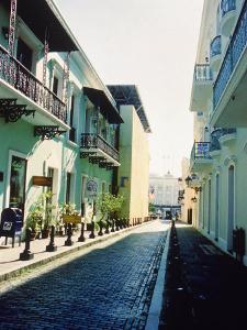 Cobble Street Between Buildings, Puerto Rico by Jennifer Broadus