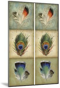 2-Up Feather Triptych I by Jennifer Goldberger