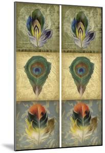 2-Up Feather Triptych II by Jennifer Goldberger