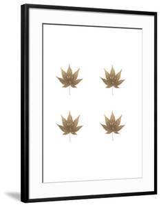 4-Up Rose Gold Foil Leaf VI by Jennifer Goldberger