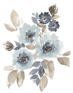 Blue & Chocolate Cascade I by Jennifer Goldberger