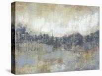 White Barn on Citron II-Jennifer Goldberger-Mounted Art Print