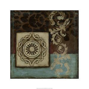 Damask Tapestry w/rosette I by Jennifer Goldberger