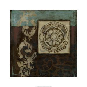 Damask Tapestry w/rosette II by Jennifer Goldberger