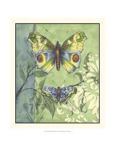Embellished Vibrant Butterflies I by Jennifer Goldberger