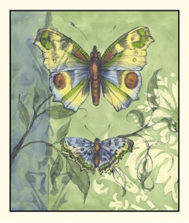 Embellished Vibrant Butterflies I