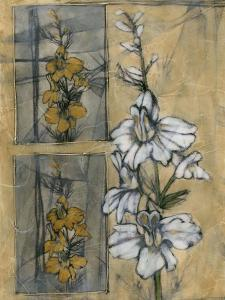 Embellished Wildflower Collage II by Jennifer Goldberger