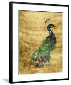 Gilded Peacock Splash I by Jennifer Goldberger