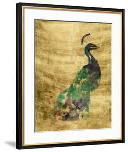 Gilded Peacock Splash I by Jennifer Goldberger