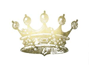 Gold Foil Crown II by Jennifer Goldberger