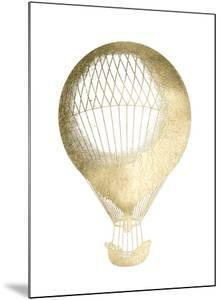 Gold Foil Hot Air Balloon I by Jennifer Goldberger