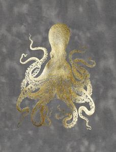 Gold Foil Octopus II by Jennifer Goldberger