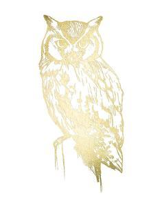Gold Foil Owl I by Jennifer Goldberger