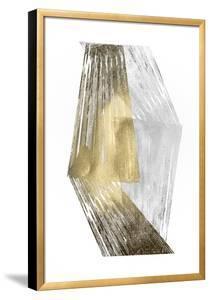 Gold & Silver Foil Stripes by Jennifer Goldberger