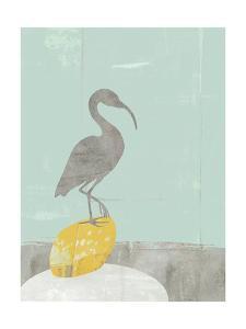 Heron Collage II by Jennifer Goldberger