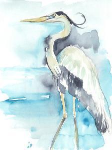 Heron Splash II by Jennifer Goldberger