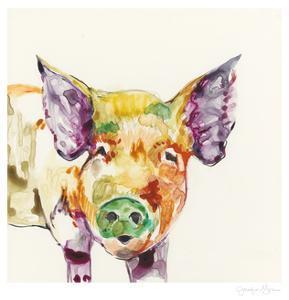 Hi Fi Farm Animals III by Jennifer Goldberger