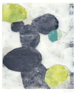Indigo Orbs II by Jennifer Goldberger
