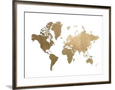 Large Gold Foil World Map