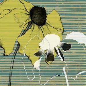 Layered Poppies I by Jennifer Goldberger