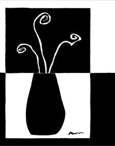 Minimalist Flower in Vase I by Jennifer Goldberger
