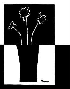Minimalist Flower in Vase II by Jennifer Goldberger