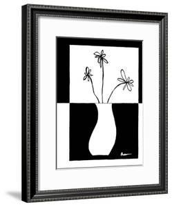 Minimalist Flower in Vase IV by Jennifer Goldberger