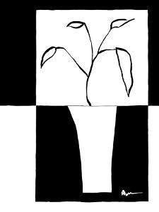 Minimalist Leaf in Vase II by Jennifer Goldberger