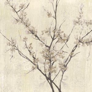 Neutral Blossoms on Cream I by Jennifer Goldberger