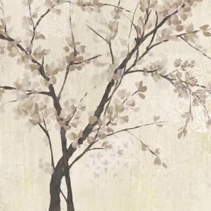 Neutral Blossoms on Cream II by Jennifer Goldberger