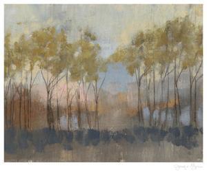 Ochre Treeline II by Jennifer Goldberger