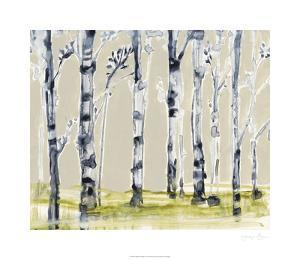 Parchment Birchline I by Jennifer Goldberger