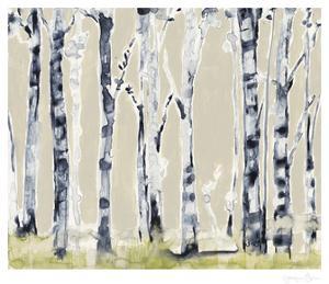 Parchment Birchline II by Jennifer Goldberger