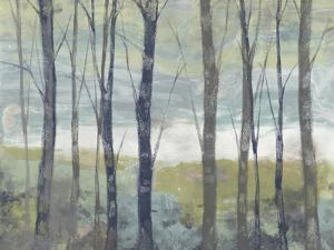 Pastel Birches I by Jennifer Goldberger